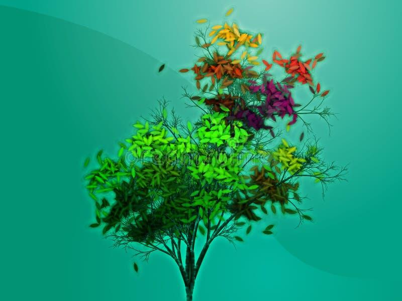 obfitolistny jesień drzewo ilustracji