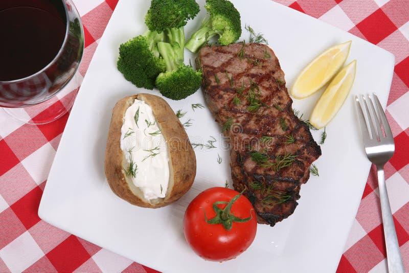 obiad stek obrazy royalty free