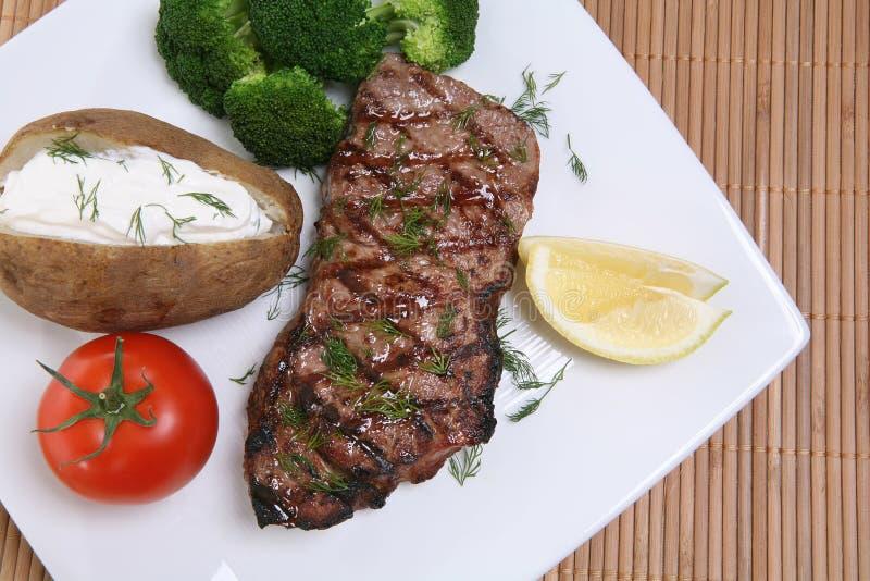 obiad stek obrazy stock