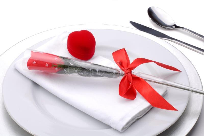 obiad valentines fotografia stock