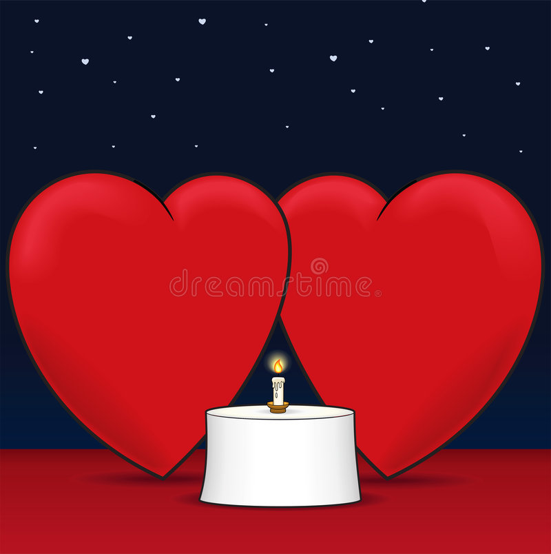 obiadowa miłość ilustracja wektor