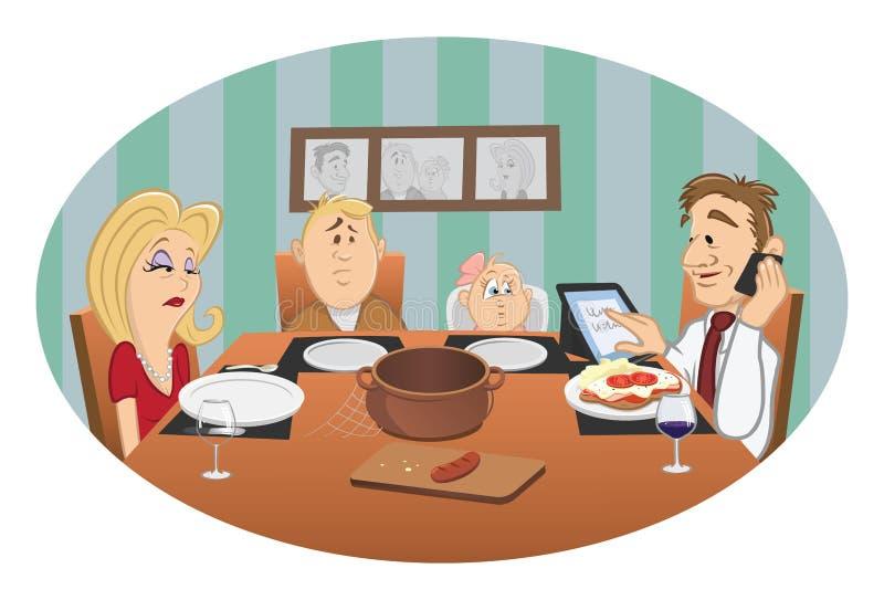 obiadowa rodzina royalty ilustracja
