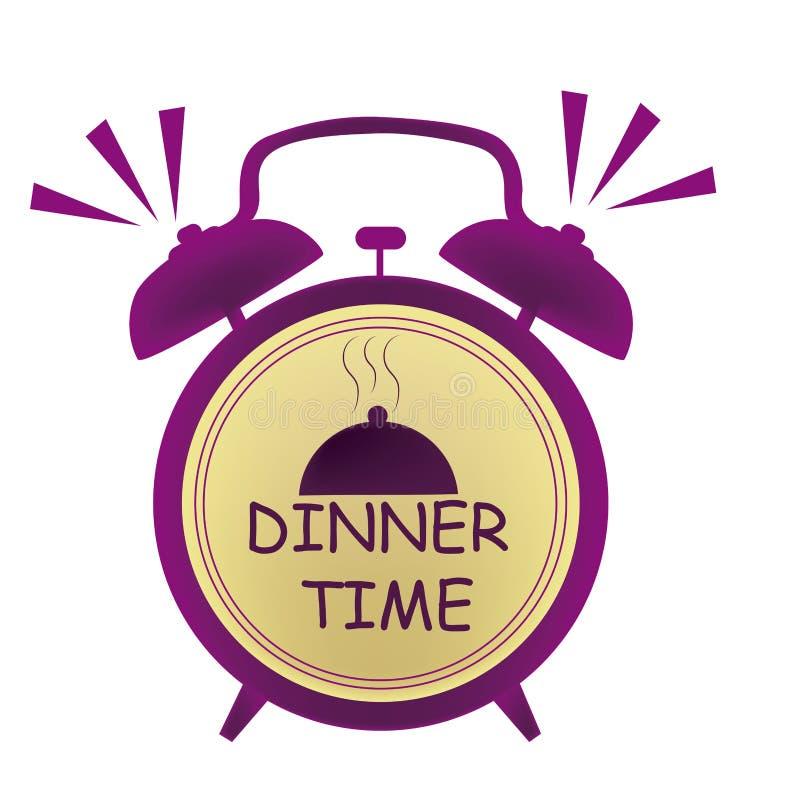 Obiadowego czasu zegar ilustracji