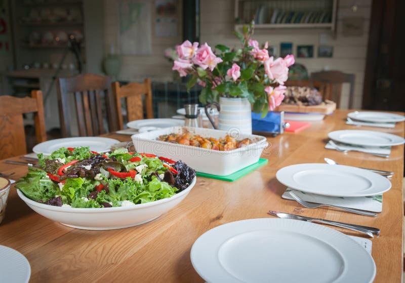 Obiadowego stołu położenie zdjęcia royalty free