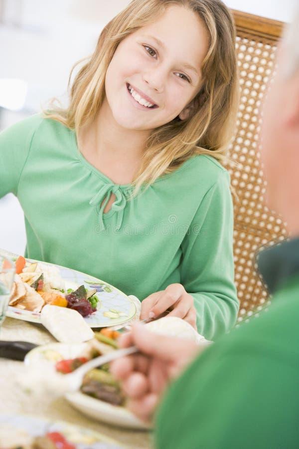 obiadowi chłopiec boże narodzenia fotografia royalty free