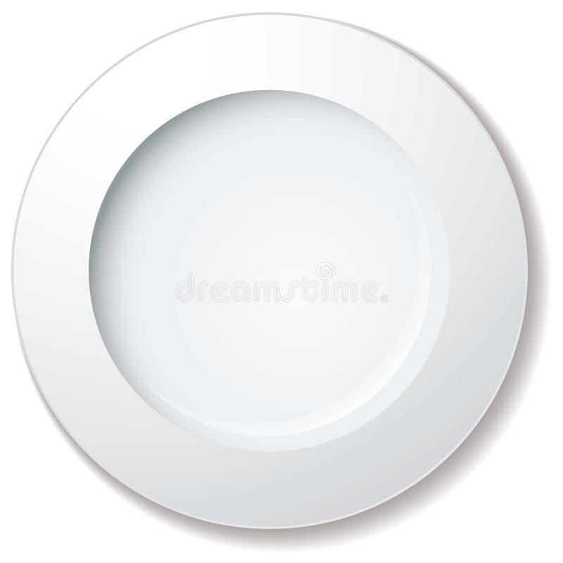 obiadowy ampuły talerza obręcz royalty ilustracja