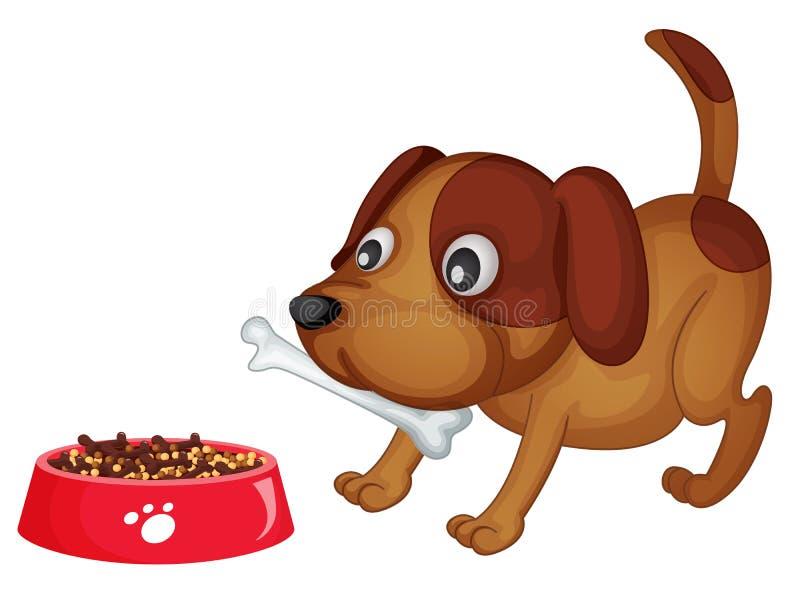 obiadowy doggy royalty ilustracja