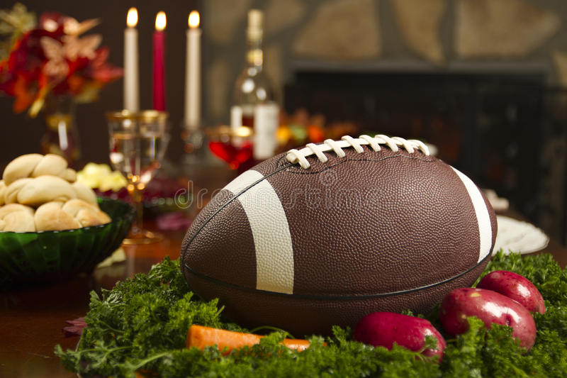 obiadowy futbolowy pigskin dziękczynienia indyk zdjęcie stock