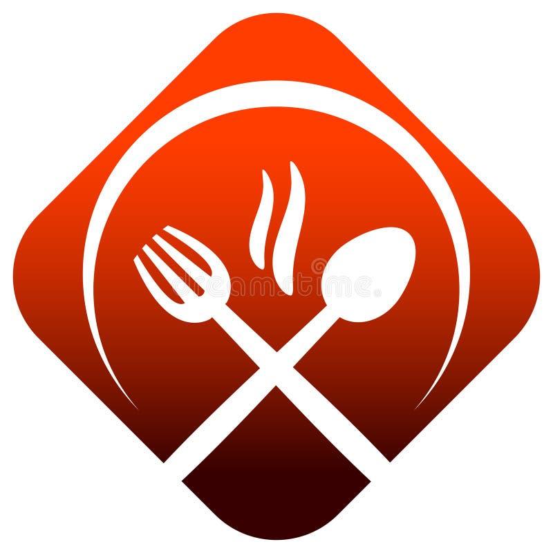 obiadowy logo ilustracja wektor