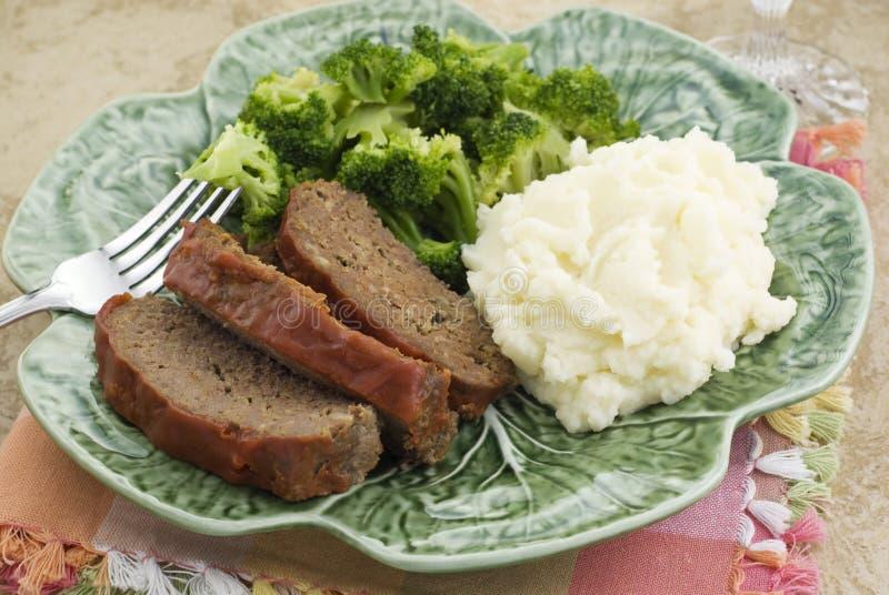 obiadowy meatloaf fotografia stock