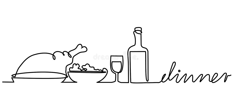 Obiadowy menu royalty ilustracja