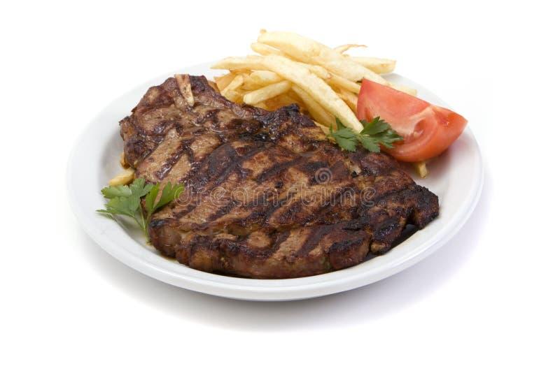 obiadowy stek obraz stock
