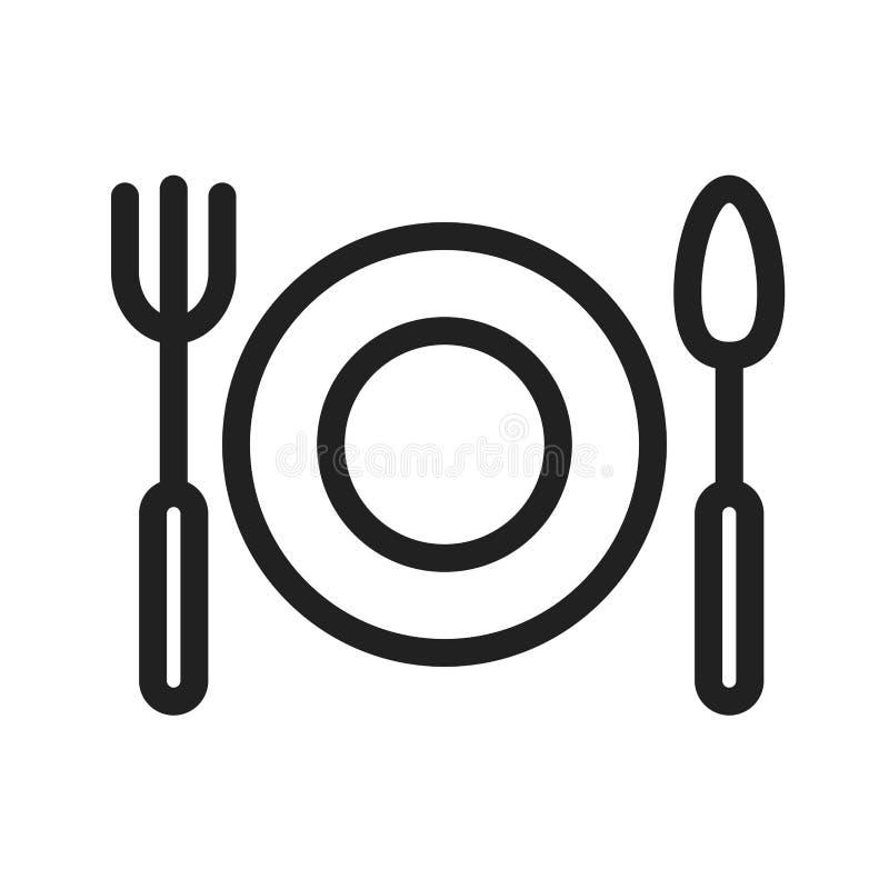 Obiadowy talerz royalty ilustracja