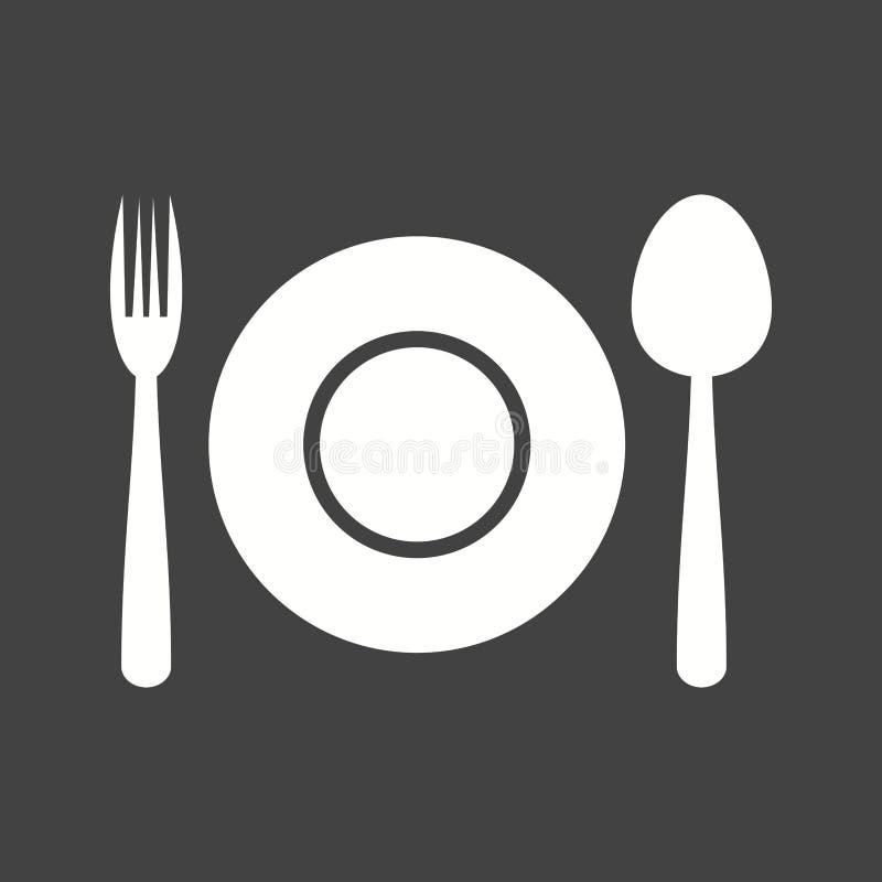 Obiadowy talerz ilustracji