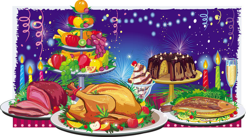 obiadowy wakacje royalty ilustracja