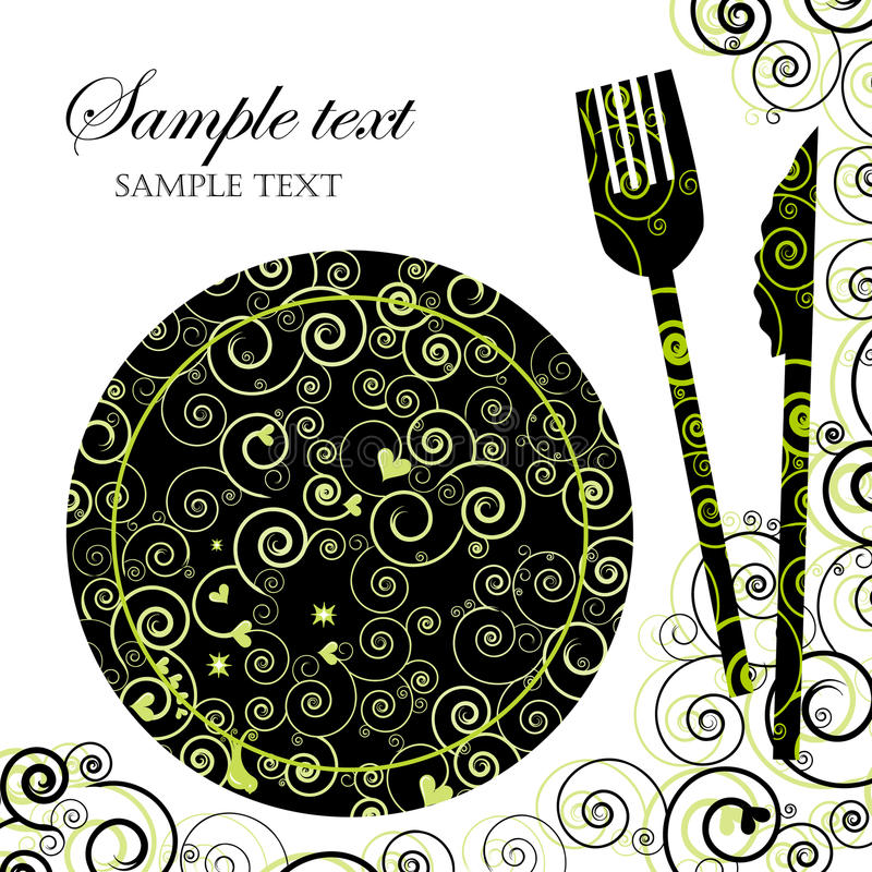 obiadowy zaproszenia menu przyjęcie ilustracji