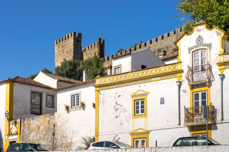 Obidos średniowieczny kasztel, Portugalia obraz stock