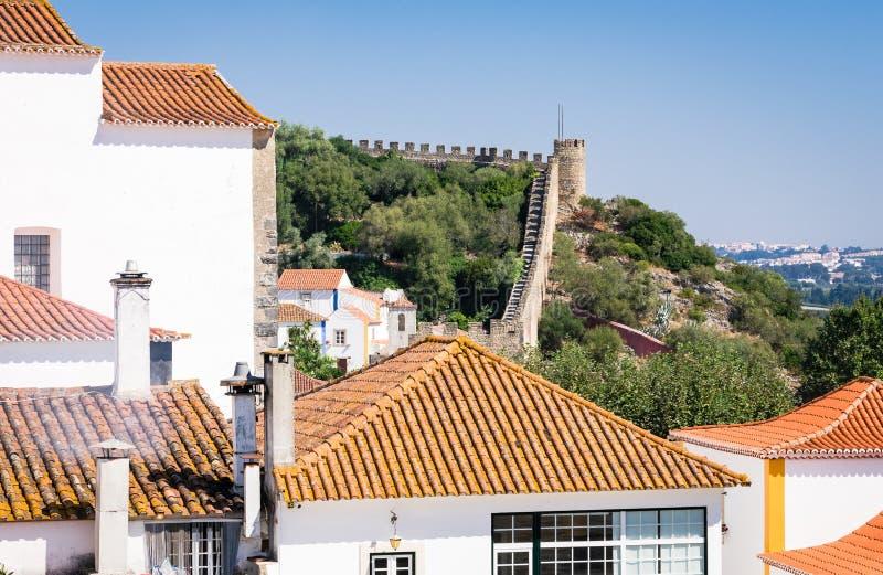 Obidos średniowieczny kasztel, Portugalia fotografia stock