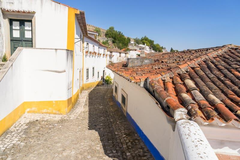 Obidos średniowieczny kasztel, Portugalia zdjęcie royalty free