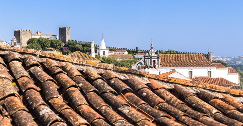 Obidos średniowieczny kasztel, Portugalia obrazy stock