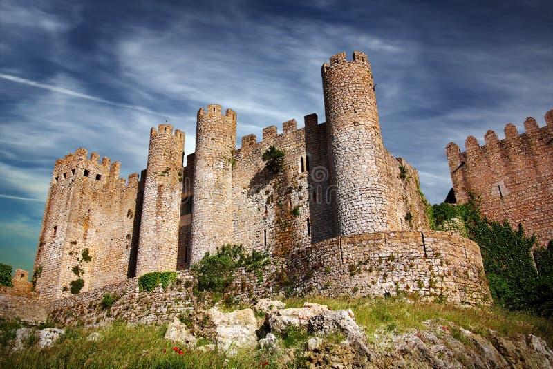 obidos замока стоковое изображение rf