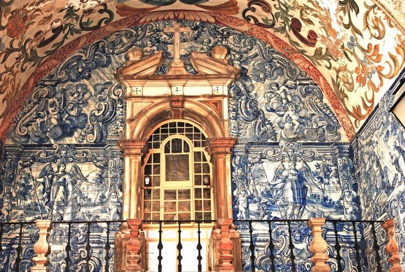 obidos Португалия города средневековые стоковое изображение rf
