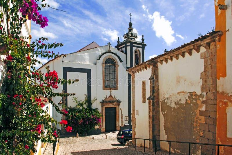obidos Португалия города средневековые стоковое изображение