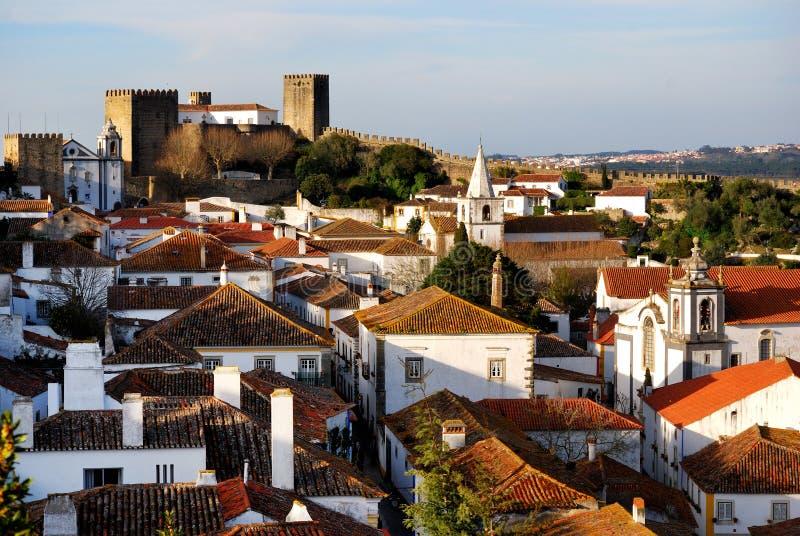 obidos Португалия стоковые фотографии rf