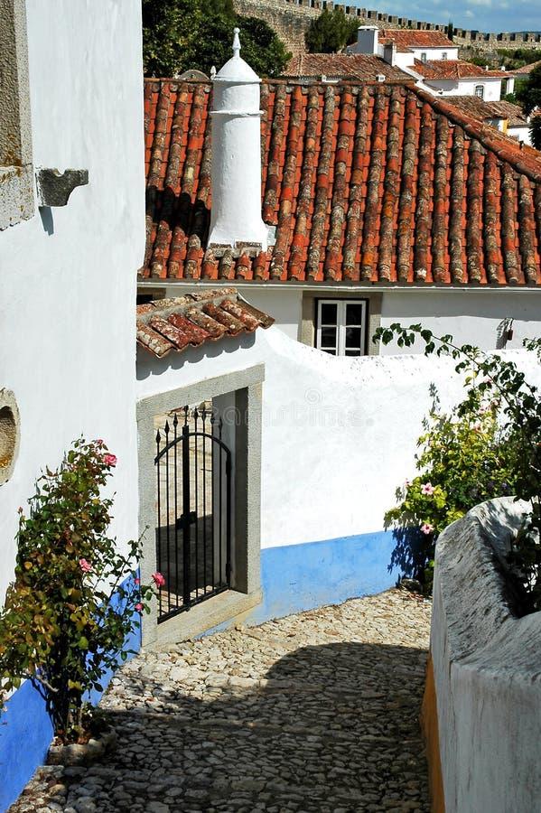 obidos Португалия стоковое изображение rf