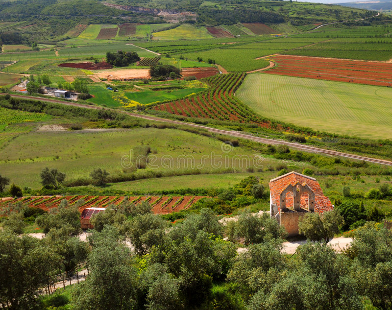 Download Obidos Landscape stock photo. Image of picturesque, field - 9333886