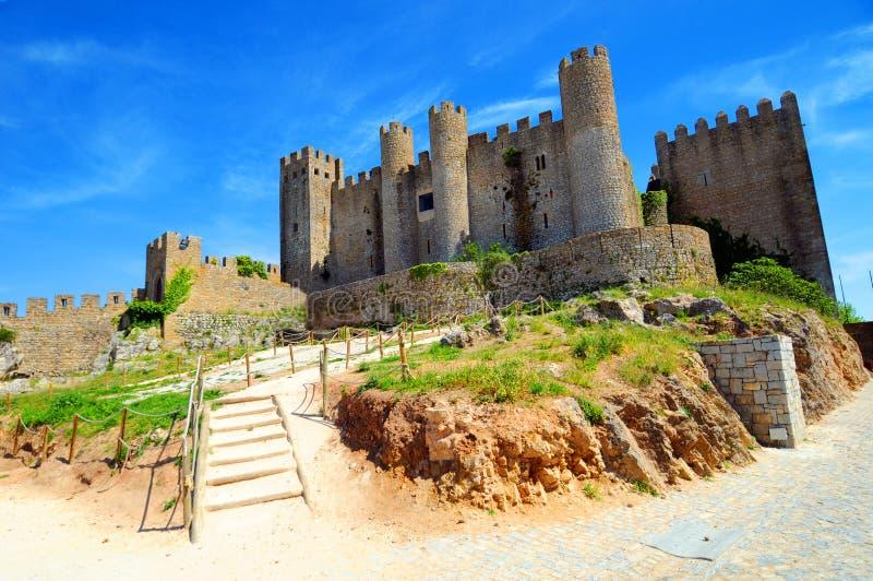 obidos médiévaux de château images libres de droits