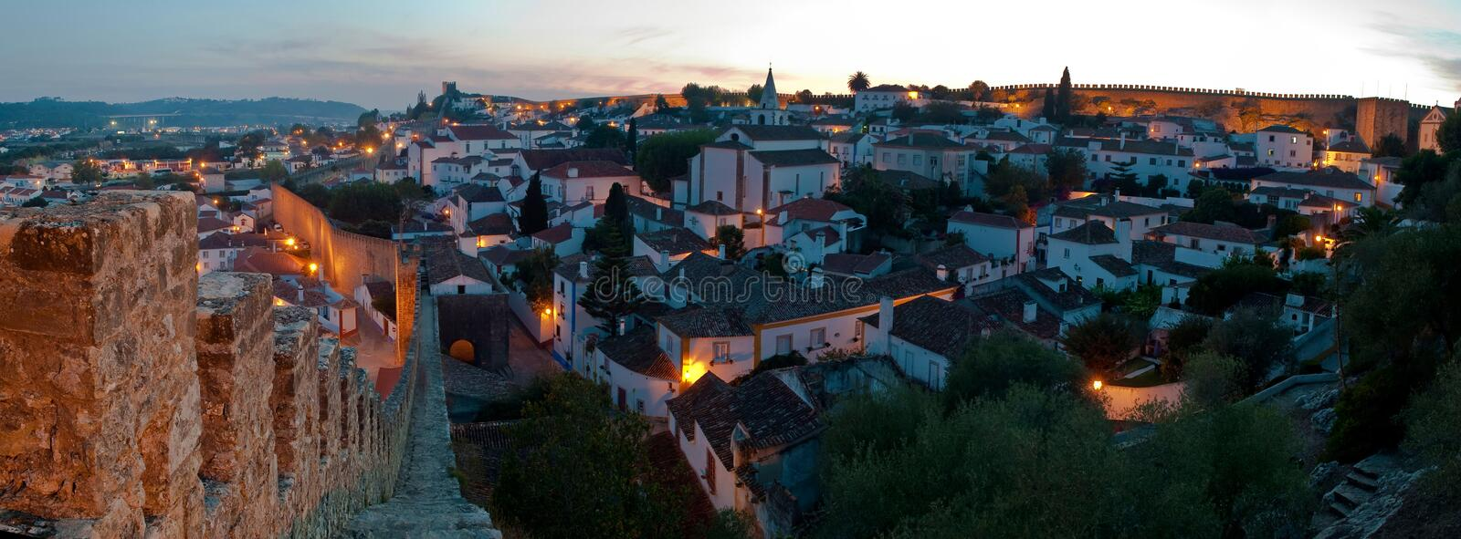Download Obidos, Portugal stock photo. Image of crenellation, building - 13737742
