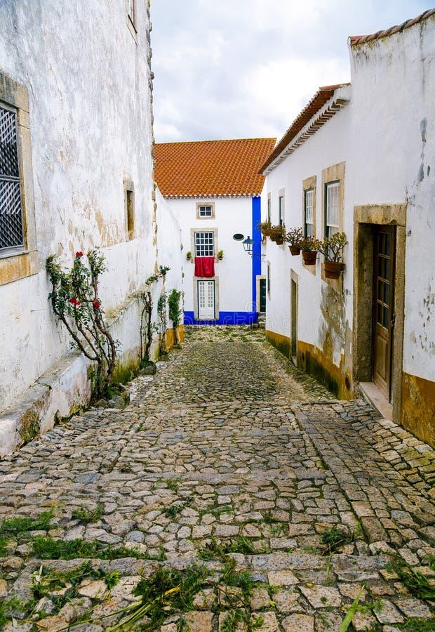 Obidos, Portugal, une ville médiévale images stock