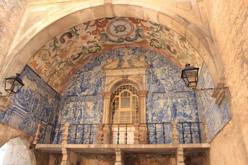 obidosportugal by Medeltida stad av Obidos, Portugal royaltyfri foto