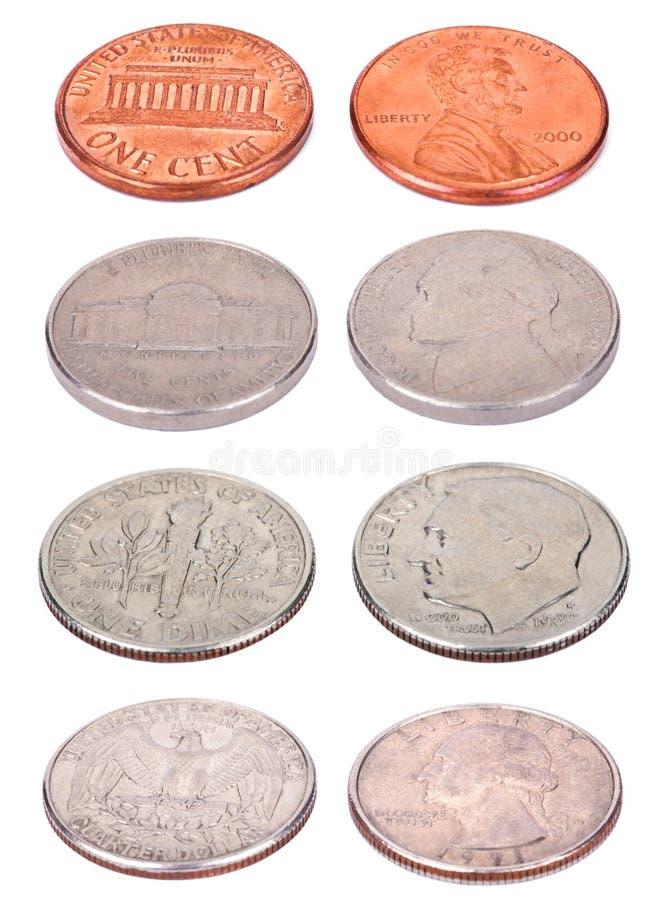 Amerykanin monety - Wysoki kąt zdjęcie royalty free