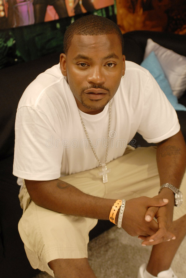 Interviewed By The Tarot: Obie Trice Being Interviewed. Editorial Photo