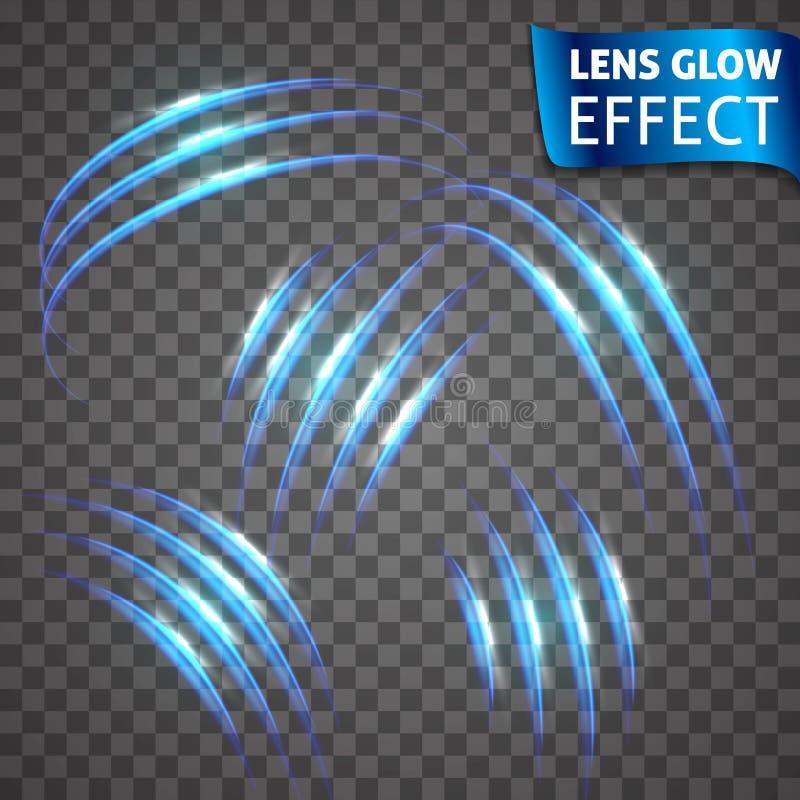 Obiektyw łuny skutek Neonowe serie ustawiać kota narys Jaskrawy neonowy rozjarzony skutek tło przejrzysty Abstrakta jarzyć się ilustracja wektor