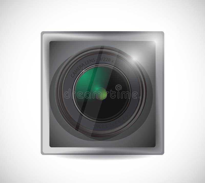 Obiektyw kamery app guzika ilustracja royalty ilustracja