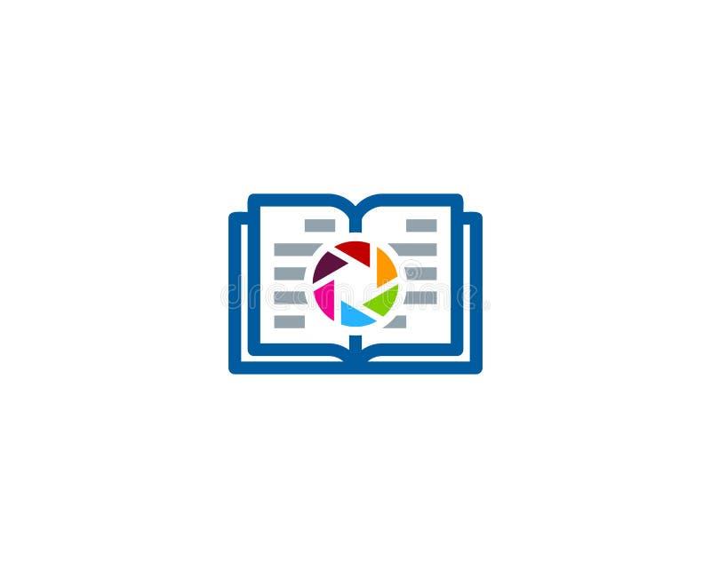 Obiektywu loga ikony Książkowy projekt royalty ilustracja