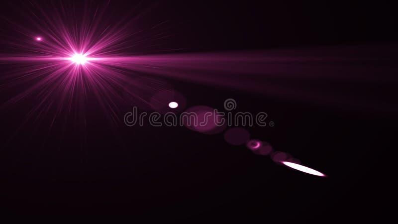 Obiektywu racy światło nad Czarnym tłem Łatwy dodawać narzutę ilustracji