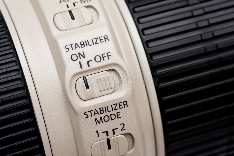 obiektywu stabilizator obrazy stock