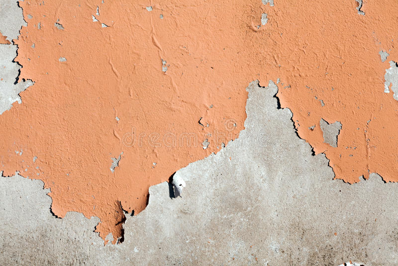 Obieranie malująca cement ściana zdjęcia royalty free