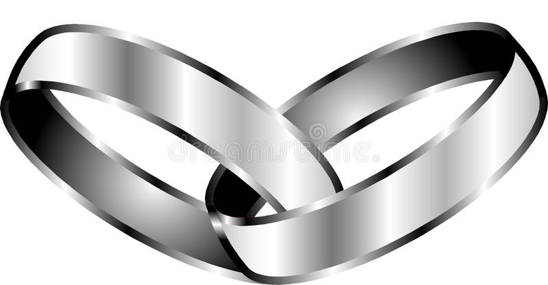 obietnica pierścionki ilustracja wektor