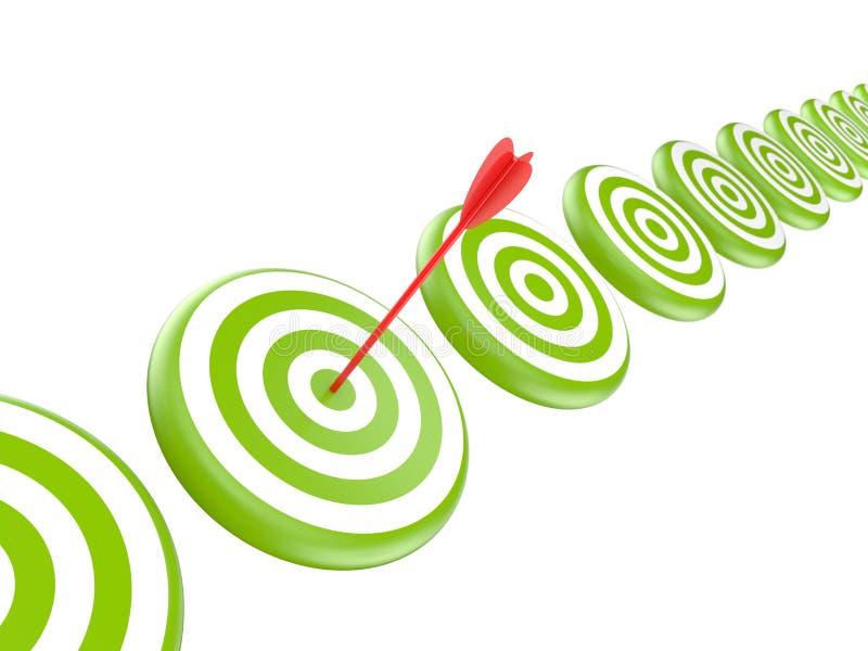 Obiettivi con la freccia royalty illustrazione gratis