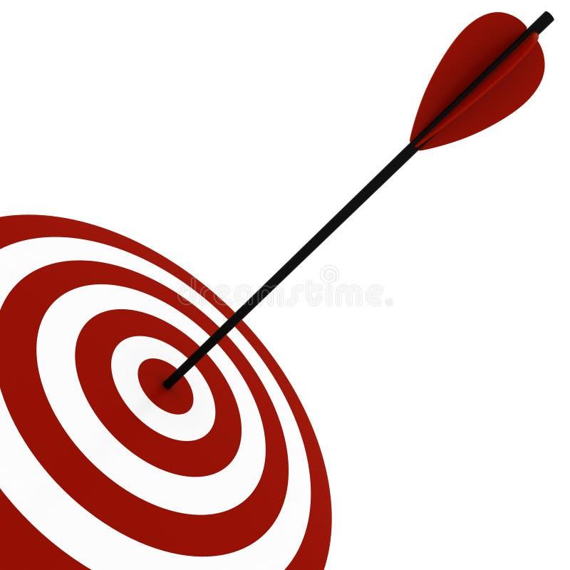 obiettivo 3d e frecce - isolati su bianco illustrazione vettoriale