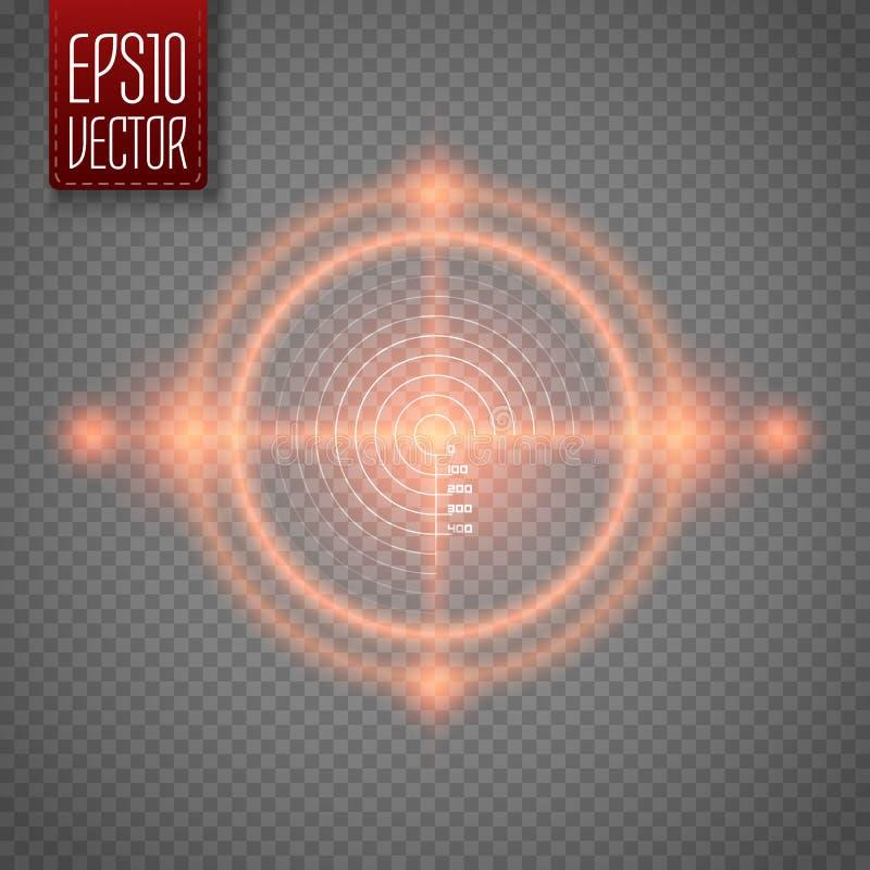 Obiettivo al neon Elemento dell'interfaccia del gioco Vettore royalty illustrazione gratis