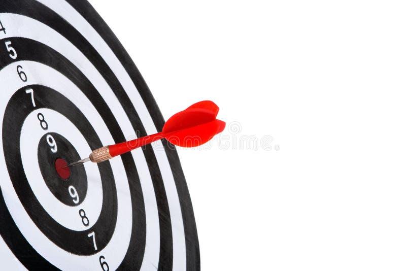 Obiettivo con la freccia fotografie stock