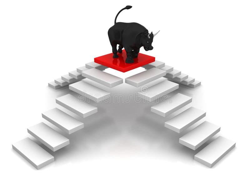 obiettivo del Punto--toro illustrazione vettoriale