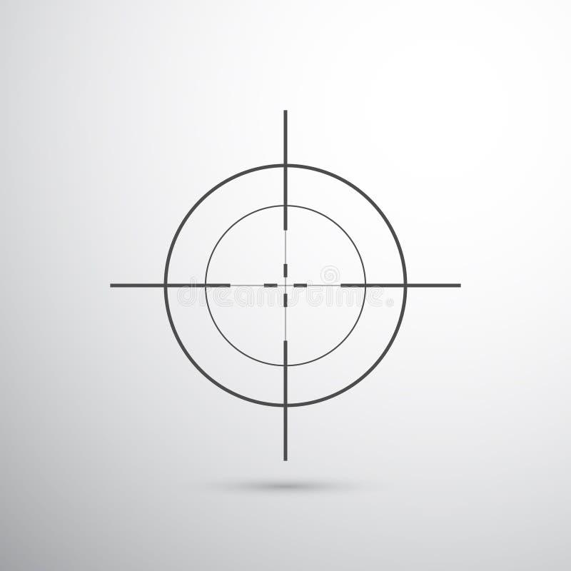 Obiettivo del tiratore franco illustrazione vettoriale