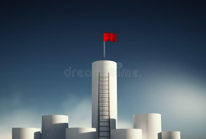 Obiettivo della bandiera rossa illustrazione vettoriale